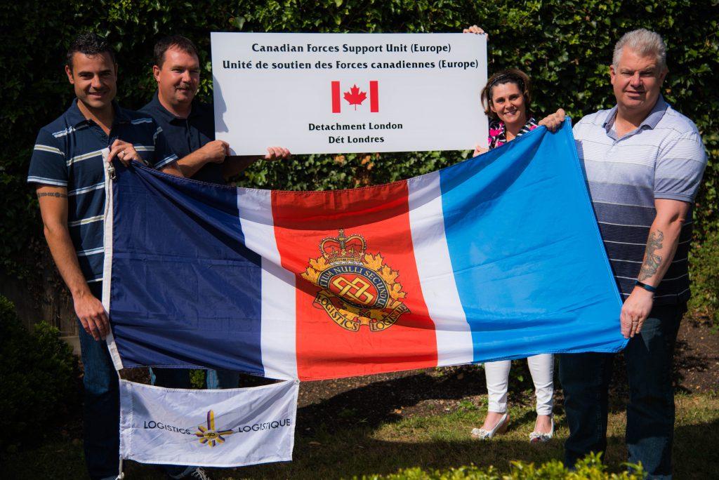 RCLSA flag at CFSU(E) Det London.