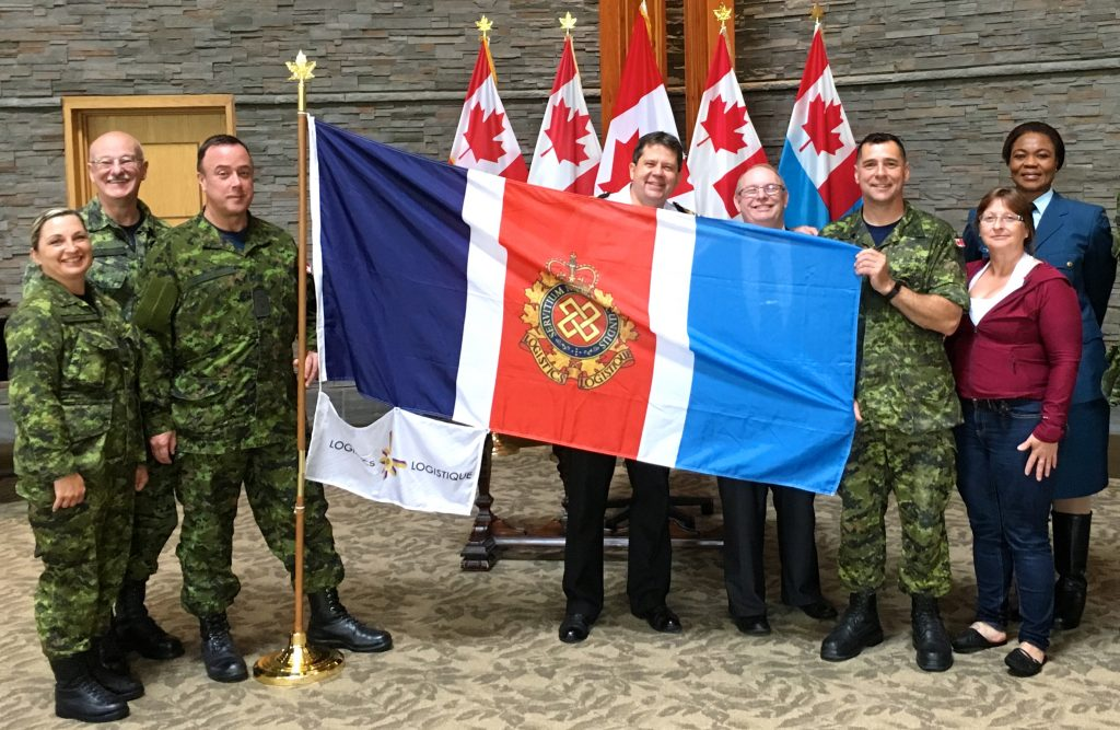 Flag unveiling at Beechwood National Ceremony