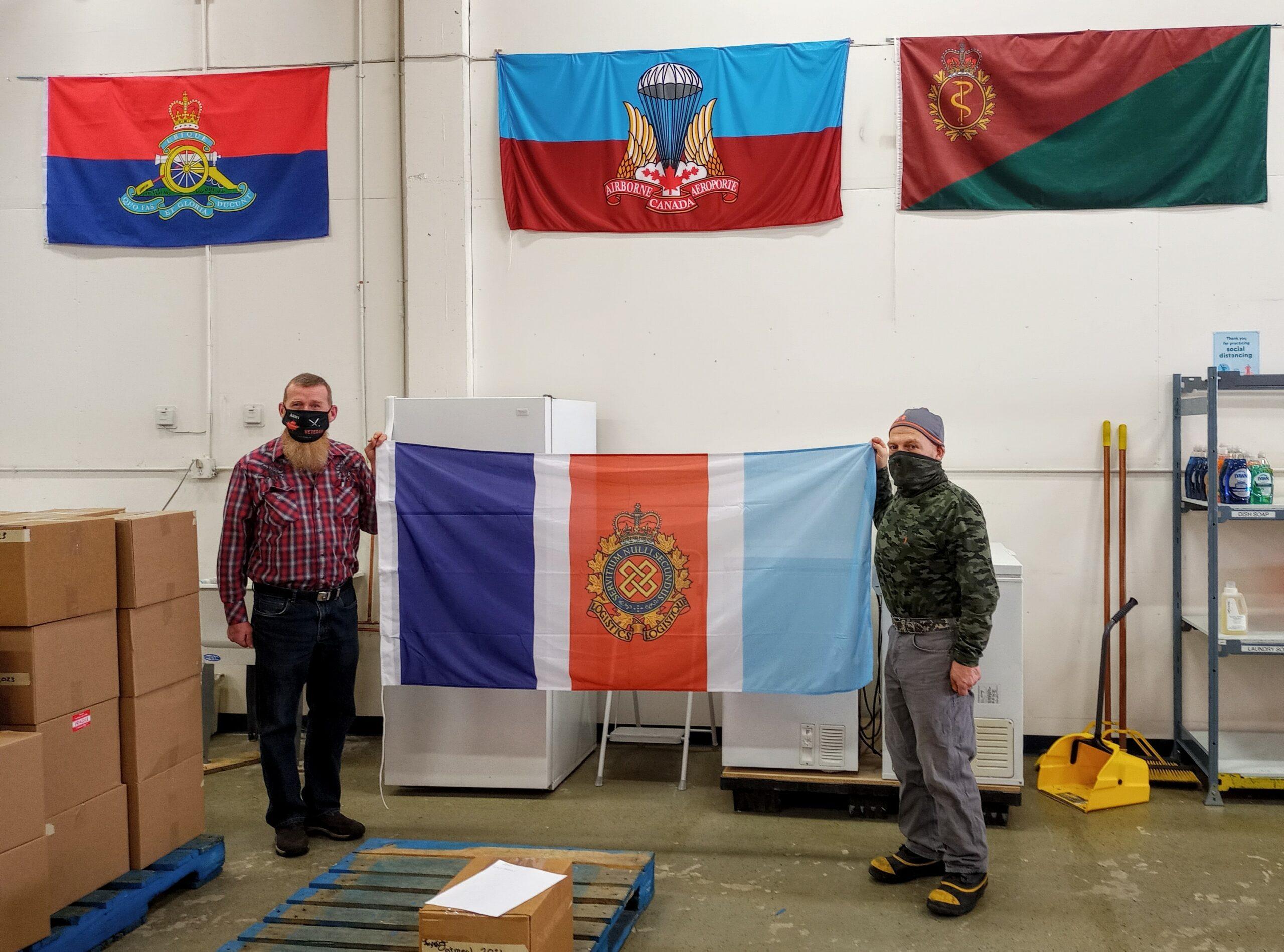 RCLSA Flag at Edmonton Veterans Food Bank